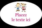 Éducation des enfants Étiquettes ovales - gabarit prédéfini. <br/>Utilisez notre logiciel Avery Design & Print Online pour personnaliser facilement la conception.
