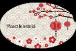Nouvel An chinois Étiquettes carrées - gabarit prédéfini. <br/>Utilisez notre logiciel Avery Design & Print Online pour personnaliser facilement la conception.