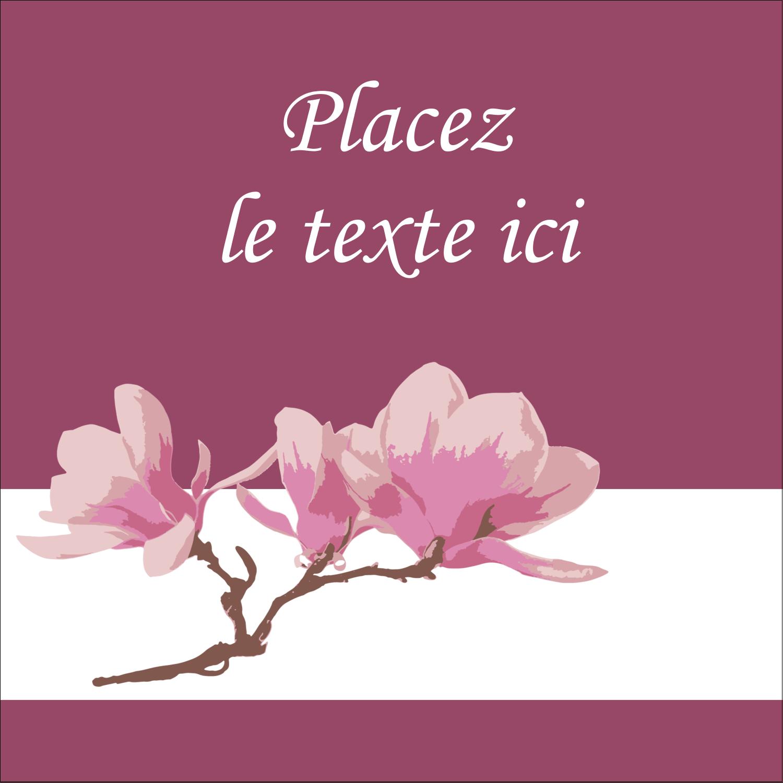 """1½"""" x 1½"""" Étiquettes carrées - Magnolia printanier"""