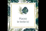 Verdure tropicale Étiquettes carrées - gabarit prédéfini. <br/>Utilisez notre logiciel Avery Design & Print Online pour personnaliser facilement la conception.