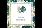 Verdure tropicale Étiquettes rondes - gabarit prédéfini. <br/>Utilisez notre logiciel Avery Design & Print Online pour personnaliser facilement la conception.