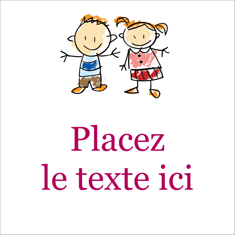 """2"""" x 2"""" Étiquettes carrées - Éducation des enfants"""