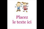 Éducation des enfants Étiquettes carrées - gabarit prédéfini. <br/>Utilisez notre logiciel Avery Design & Print Online pour personnaliser facilement la conception.