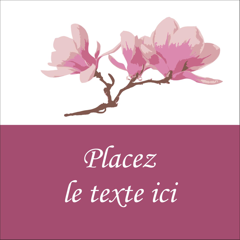 """2"""" x 2"""" Étiquettes carrées - Magnolia printanier"""