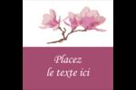 Magnolia printanier Étiquettes carrées - gabarit prédéfini. <br/>Utilisez notre logiciel Avery Design & Print Online pour personnaliser facilement la conception.
