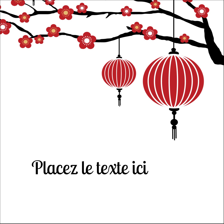 """9¾"""" x 1¼"""" Étiquettes enveloppantes - Nouvel An chinois"""