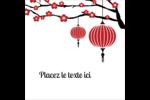 Nouvel An chinois Étiquettes enveloppantes - gabarit prédéfini. <br/>Utilisez notre logiciel Avery Design & Print Online pour personnaliser facilement la conception.