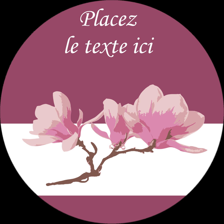 """2"""" Diameter Étiquettes rondes - Magnolia printanier"""