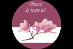 Magnolia printanier Étiquettes rondes - gabarit prédéfini. <br/>Utilisez notre logiciel Avery Design & Print Online pour personnaliser facilement la conception.