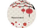 Nouvel An chinois Étiquettes rondes - gabarit prédéfini. <br/>Utilisez notre logiciel Avery Design & Print Online pour personnaliser facilement la conception.