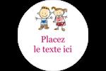 Éducation des enfants Étiquettes rondes - gabarit prédéfini. <br/>Utilisez notre logiciel Avery Design & Print Online pour personnaliser facilement la conception.