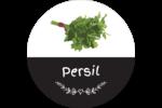 Persil, épices et fines herbes sur tableau noir Étiquettes arrondies - gabarit prédéfini. <br/>Utilisez notre logiciel Avery Design & Print Online pour personnaliser facilement la conception.