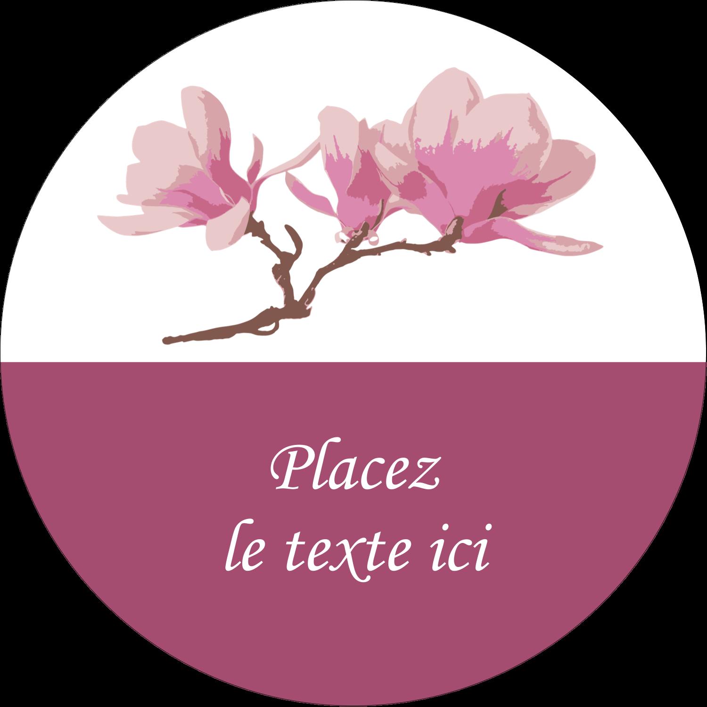 """2½"""" Diameter Étiquettes rondes - Magnolia printanier"""