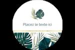 Verdure tropicale Étiquettes arrondies - gabarit prédéfini. <br/>Utilisez notre logiciel Avery Design & Print Online pour personnaliser facilement la conception.
