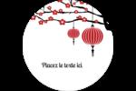 Nouvel An chinois Étiquettes arrondies - gabarit prédéfini. <br/>Utilisez notre logiciel Avery Design & Print Online pour personnaliser facilement la conception.