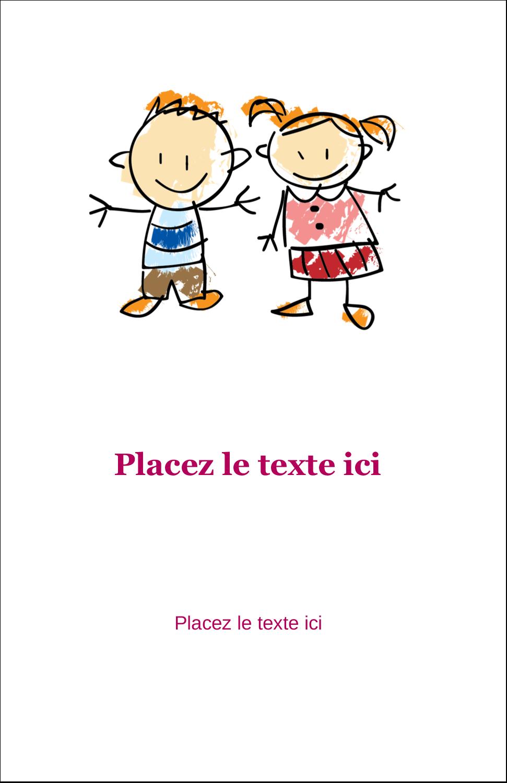 "5½"" x 8½"" Binder Insert Reliures - Éducation des enfants"