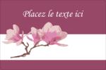 Magnolia printanier Étiquettes rectangulaires - gabarit prédéfini. <br/>Utilisez notre logiciel Avery Design & Print Online pour personnaliser facilement la conception.