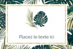 Verdure tropicale Étiquettes rectangulaires - gabarit prédéfini. <br/>Utilisez notre logiciel Avery Design & Print Online pour personnaliser facilement la conception.