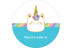 Fête de la licorne scintillante Étiquettes arrondies - gabarit prédéfini. <br/>Utilisez notre logiciel Avery Design & Print Online pour personnaliser facilement la conception.