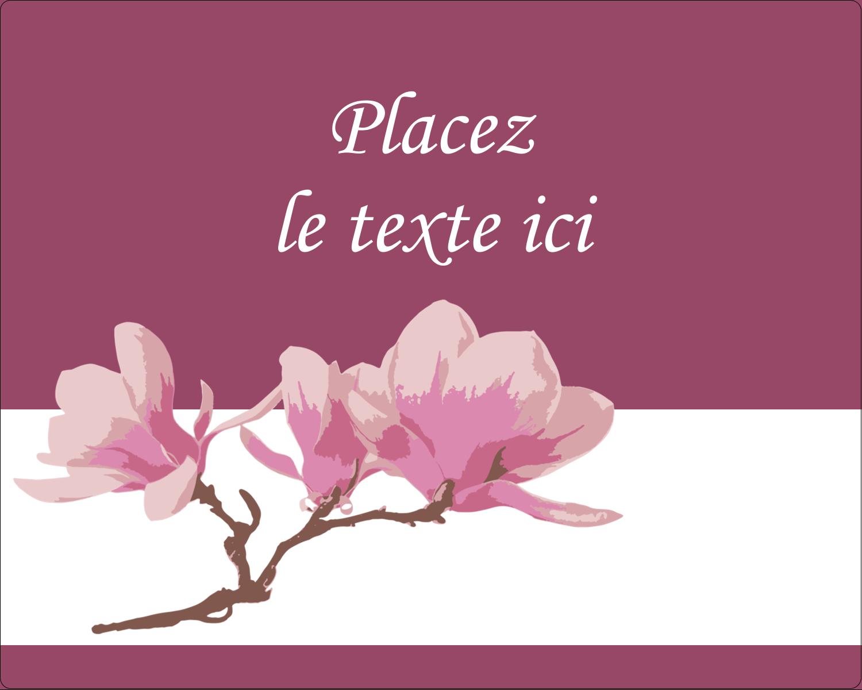 """3"""" x 3¾"""" Étiquettes rectangulaires - Magnolia printanier"""