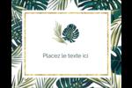 Verdure tropicale Étiquettes rondes gaufrées - gabarit prédéfini. <br/>Utilisez notre logiciel Avery Design & Print Online pour personnaliser facilement la conception.