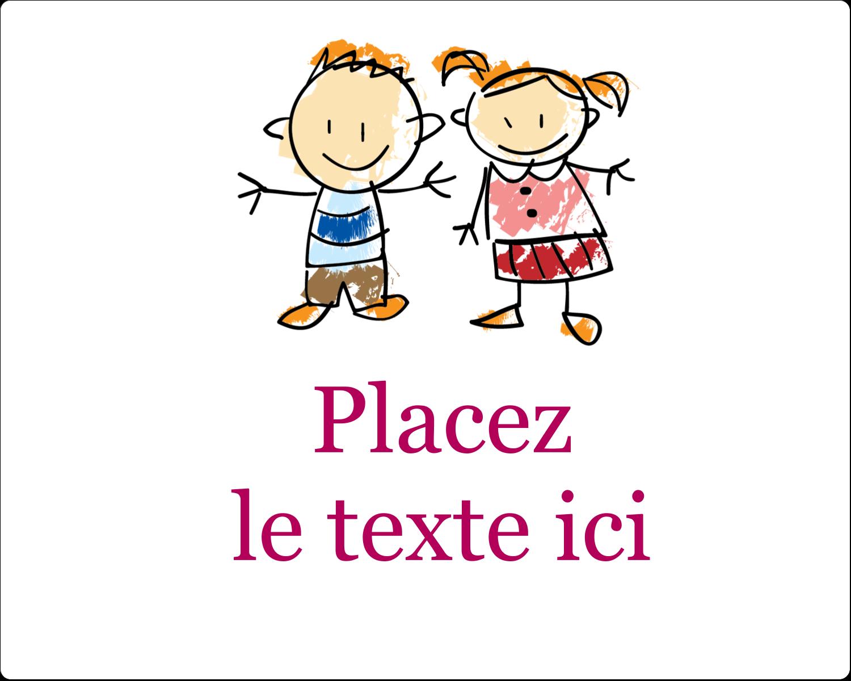 """3"""" x 3¾"""" Étiquettes rectangulaires - Éducation des enfants"""