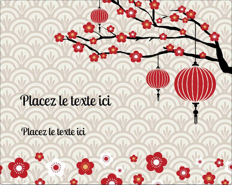 """2"""" Diameter Étiquettes rondes gaufrées - Nouvel An chinois"""
