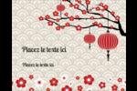 Nouvel An chinois Étiquettes rondes gaufrées - gabarit prédéfini. <br/>Utilisez notre logiciel Avery Design & Print Online pour personnaliser facilement la conception.