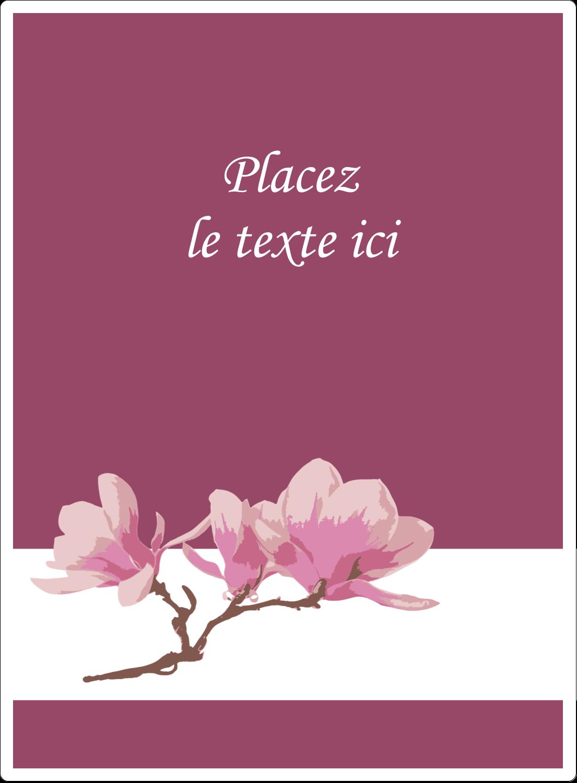 """4¾"""" x 3½"""" Étiquettes rectangulaires - Magnolia printanier"""