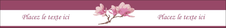 "9¾"" x 1¼"" Étiquettes enveloppantes - Magnolia printanier"