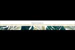 Verdure tropicale Étiquettes ovales - gabarit prédéfini. <br/>Utilisez notre logiciel Avery Design & Print Online pour personnaliser facilement la conception.