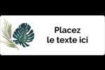 Verdure tropicale Étiquettes D'Adresse - gabarit prédéfini. <br/>Utilisez notre logiciel Avery Design & Print Online pour personnaliser facilement la conception.