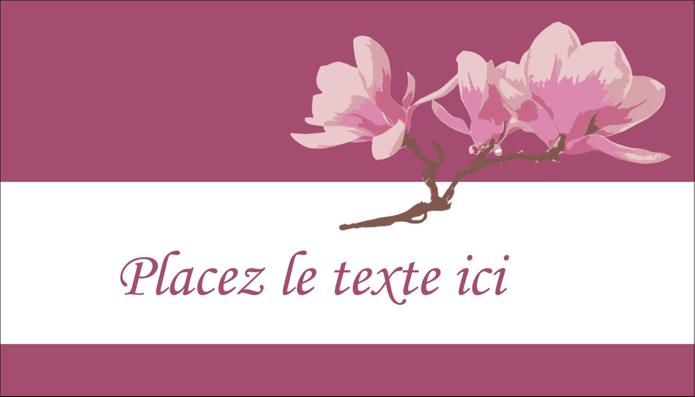 """2"""" x 3½"""" Carte d'affaire - Magnolia printanier"""