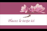 Magnolia printanier Carte d'affaire - gabarit prédéfini. <br/>Utilisez notre logiciel Avery Design & Print Online pour personnaliser facilement la conception.
