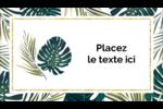 Verdure tropicale Carte d'affaire - gabarit prédéfini. <br/>Utilisez notre logiciel Avery Design & Print Online pour personnaliser facilement la conception.