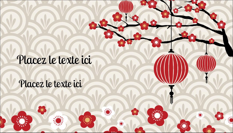 """3½"""" x 2"""" Carte d'affaire - Nouvel An chinois"""