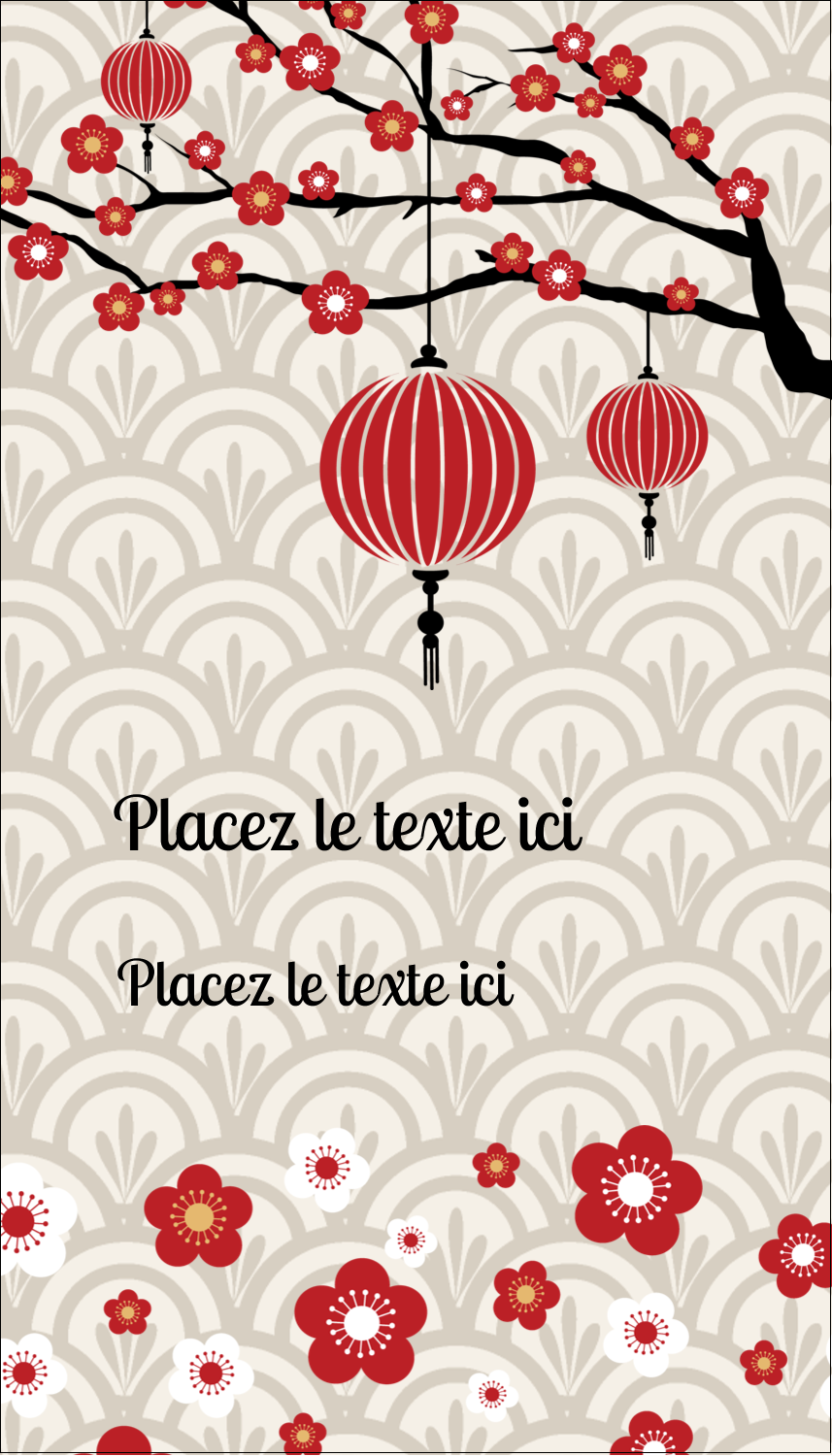 "2"" x 3½"" Carte d'affaire - Nouvel An chinois"