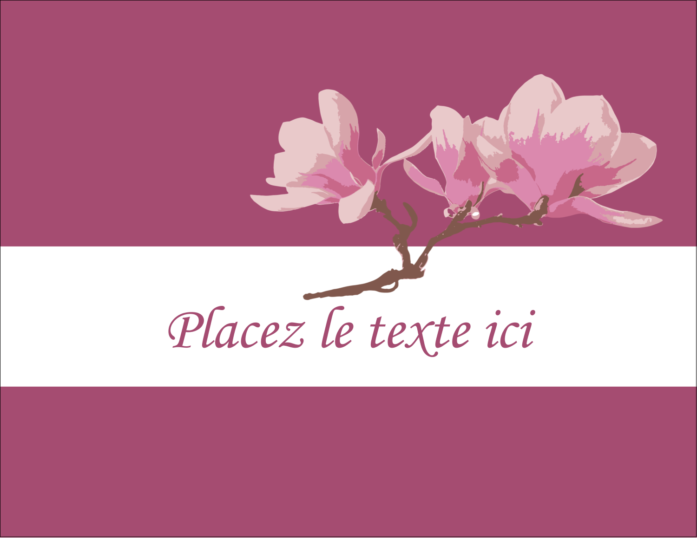 "5½"" x 4¼"" Carte Postale - Magnolia printanier"