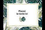 Verdure tropicale Carte Postale - gabarit prédéfini. <br/>Utilisez notre logiciel Avery Design & Print Online pour personnaliser facilement la conception.