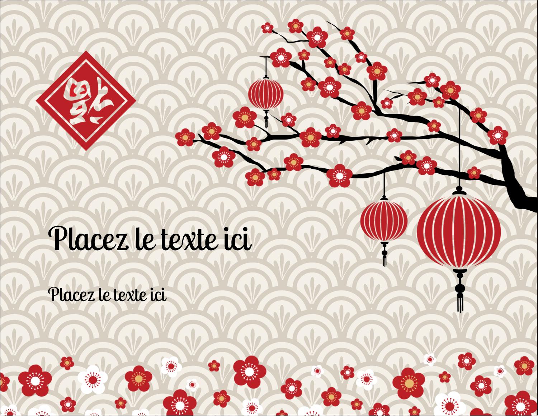 "4¼"" X 5½"" Carte Postale - Nouvel An chinois"