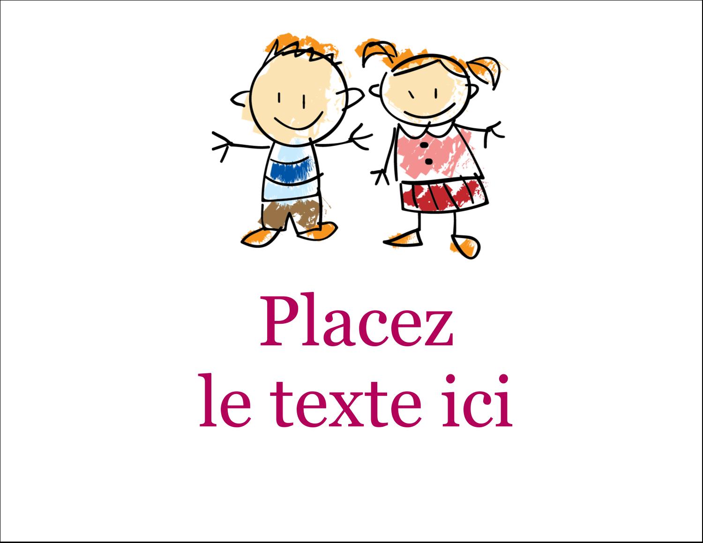 """5½"""" x 4¼"""" Carte Postale - Éducation des enfants"""