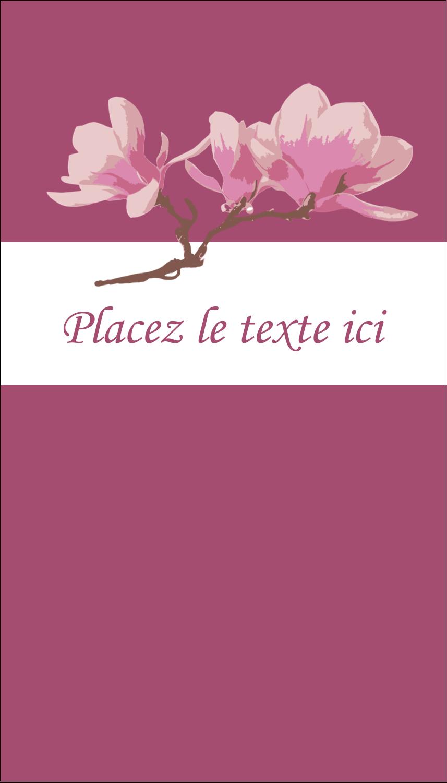 """3½"""" x 2"""" Carte d'affaire - Magnolia printanier"""