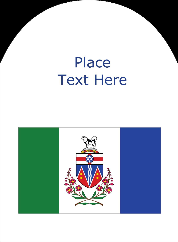 """4¾"""" x 3½"""" Arched Label - Yukon Flag"""