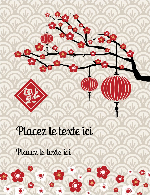 "5½"" x 4¼"" Carte Postale - Nouvel An chinois"