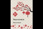 Nouvel An chinois Carte Postale - gabarit prédéfini. <br/>Utilisez notre logiciel Avery Design & Print Online pour personnaliser facilement la conception.