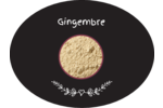 Gingembre, épices et fines herbes sur tableau noir Étiquettes ovales festonnées - gabarit prédéfini. <br/>Utilisez notre logiciel Avery Design & Print Online pour personnaliser facilement la conception.