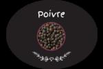 Poivre, épices et fines herbes sur tableau noir Étiquettes ovales festonnées - gabarit prédéfini. <br/>Utilisez notre logiciel Avery Design & Print Online pour personnaliser facilement la conception.