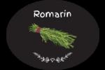 Romarin, épices et fines herbes sur tableau noir Étiquettes ovales festonnées - gabarit prédéfini. <br/>Utilisez notre logiciel Avery Design & Print Online pour personnaliser facilement la conception.