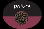 Poivre, épices et fines herbes sur tableau noir Étiquettes ovales - gabarit prédéfini. <br/>Utilisez notre logiciel Avery Design & Print Online pour personnaliser facilement la conception.