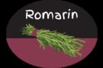 Romarin, épices et fines herbes sur tableau noir Étiquettes ovales - gabarit prédéfini. <br/>Utilisez notre logiciel Avery Design & Print Online pour personnaliser facilement la conception.